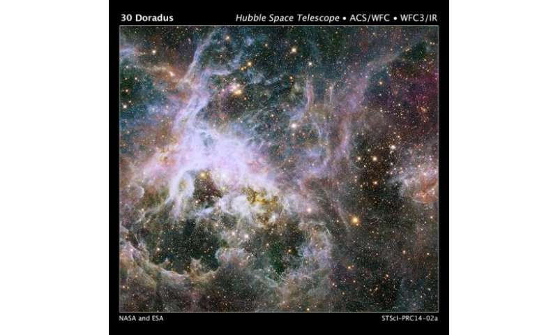 Hubble probes interior of Tarantula Nebula