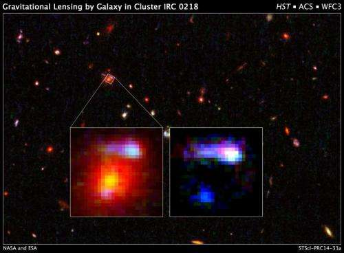 Hubble shows farthest lensing galaxy yields clues to early universe