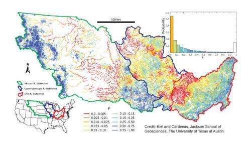 Hydrologists find Mississippi River network's buffering system for nitrates is overwhelmed