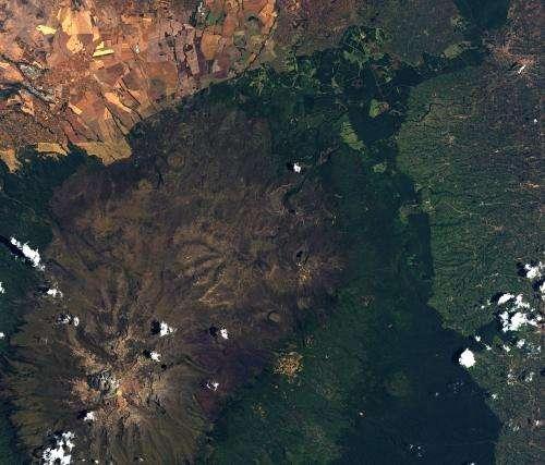 Image: Mount Kenya from orbit