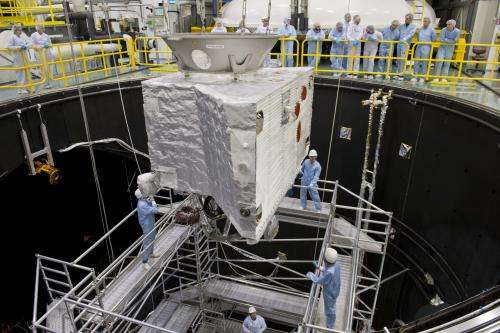 Image: Moving Bepicolombo into ESA's space simulator