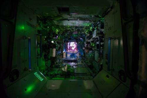 Inside the International Space Station's Destiny Laboratory