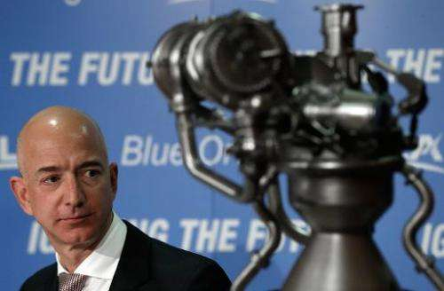 Jeff Bezos, founder of Blue Origin and Amazon.com, at a press conference in Washington on September 17 to announce the new BE-4