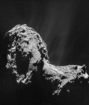 Jet! Rosetta's Comet Is Feeling The Heat As Gas and Dust Erupts From Surface