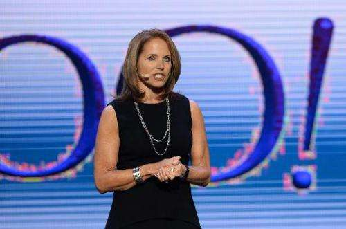 Journalist Katie Couric speaks during a keynote address by Yahoo! President and CEO Marissa Mayer at the 2014 International CES