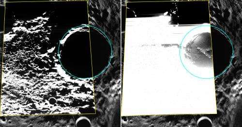 MESSENGER Provides First Optical Images of Ice Near Mercury's North Pole