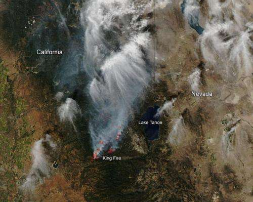 King Fire in California still blazing