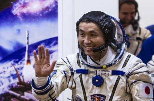 Koichi Wakata, pictured at the Baikonur cosmodrome on November 6, 2013, is the first ever Japanese astronaut to have command of