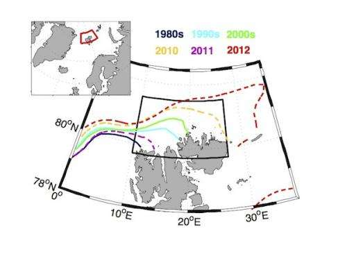 Large sea ice changes North of Swalbard