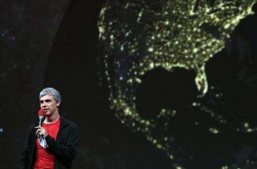 Larry Page, Google co-founder and CEO, speaks during the Google I/O developers conference at the Moscone Center on May 15, 2013