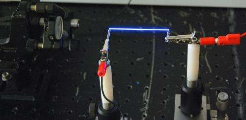 Laser 'Lightning rods' channel electricity through thin air