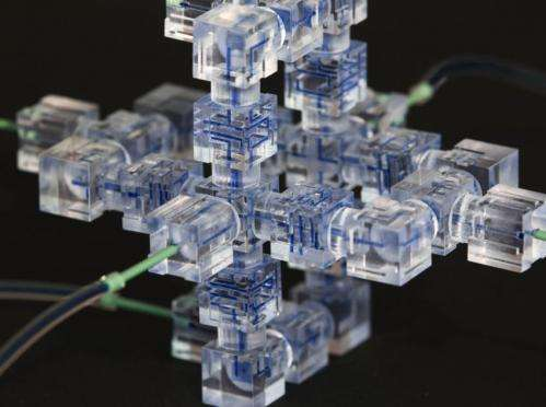 Lego-like modular components make building 3-D 'labs-on-a-chip' a snap