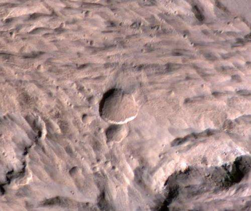 Mars weather camera helps find new crater on red planet