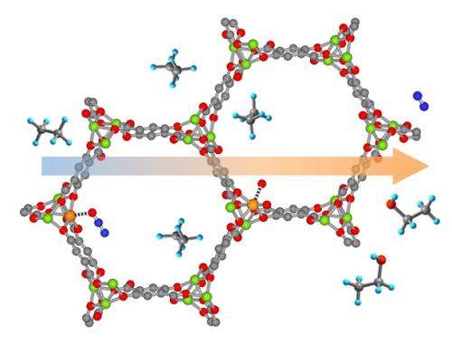 Metal-organic framework helps convert one chemical to another