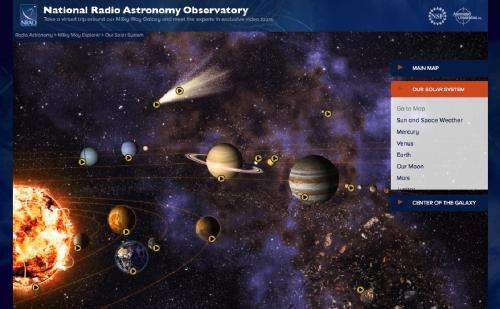 'Milky Way Explorer' software gets new Solar System installment