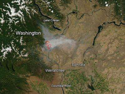Mills Canyon fire, Washington