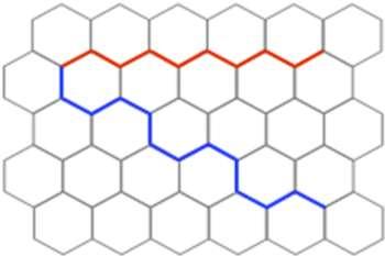 Molecular self-assembly controls graphene-edge configuration