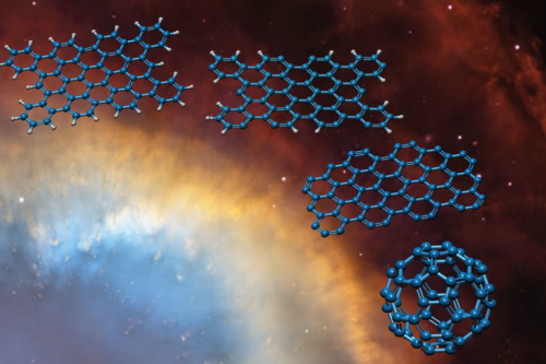 Molecular striptease explains Buckyballs in space