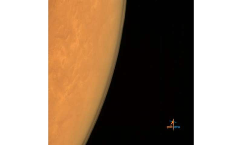 MOM eyes the limb of Mars after history creating arrival