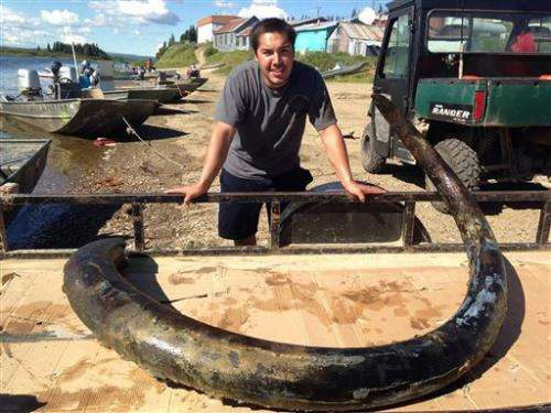 Mom, son find wooly mammoth tusks 22 years apart (Update)