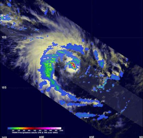 NASA adds up Tropical Cyclone Colin's rainfall rates