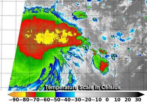 NASA-NOAA Suomi NPP satellite sees power within newborn Tropical Depression 09W