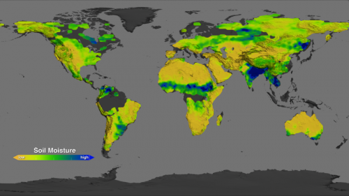 NASA's Aquarius returns global maps of soil moisture