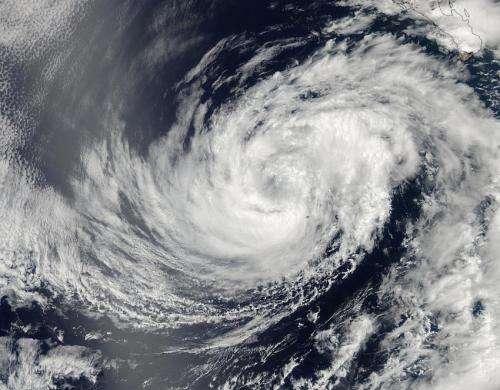 NASA sees a weaker Tropical Storm Douglas