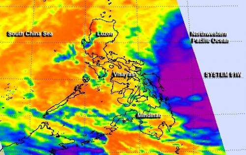NASA sees deadly System 91W still soaking Philippines