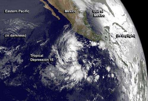 NASA sees first tropical depression of Eastern Pacific hurricane season