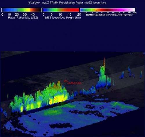 NASA sees last vestiges of Tropical Depression Jack