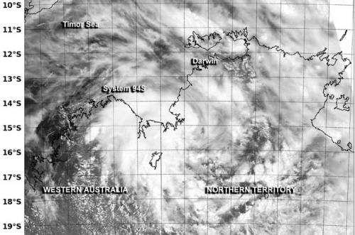 NASA sees system 94S still trying to organize near Darwin