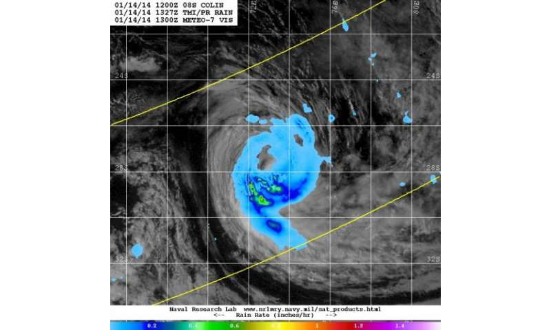 NASA sees Tropical Cyclone Colin coming 'unwound'
