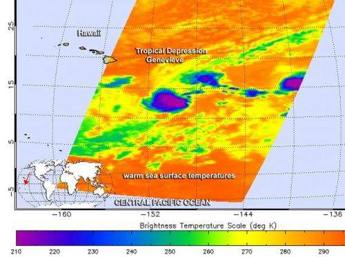 NASA sees zombie Tropical Depression Genevieve reborn