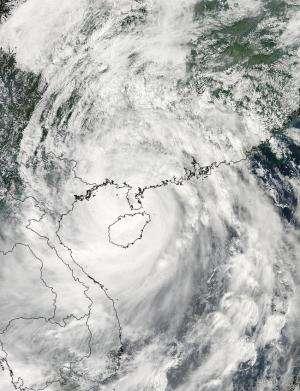NASA spots center of Typhoon Kalmaegi over Hainan Island, headed for Vietnam