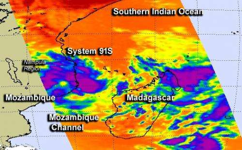 NASA spots developing tropical system affecting Mozambique's Nampala Province
