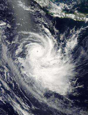 NASA spots Tropical Cyclone Gillian's eye closing