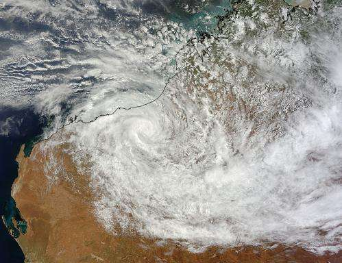 NASA still watching an amazingly stubborn, strong tropical low: System 94S