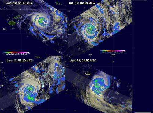 NASA's TRMM satellite provides time series of powerful Tropical Cyclone Ian