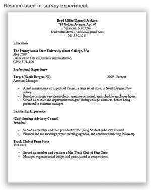 Negative stereotypes can cancel each other out on resumes