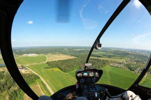 New method for gathering data about trees using a laser beam from a helicopter