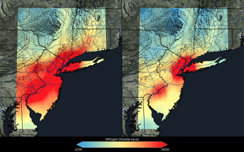 New NASA images highlight US air quality improvement
