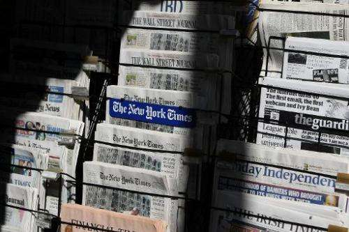 More red ink for US newspapers in latest survey