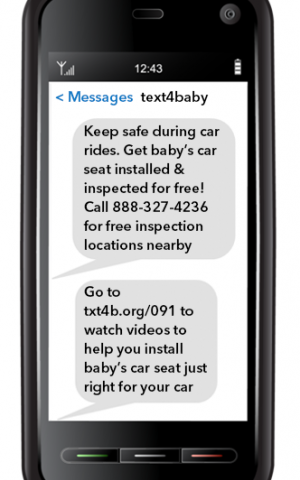 New study finds text messaging program benefits pregnant women