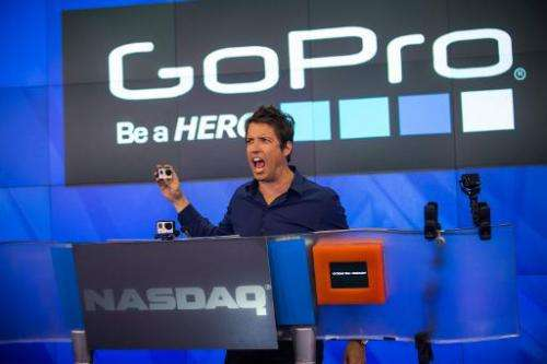 Nick Woodman, founder and CEO of GoPro, speaks at the Nasdaq Stock Exchange on June 26, 2014 in New York City