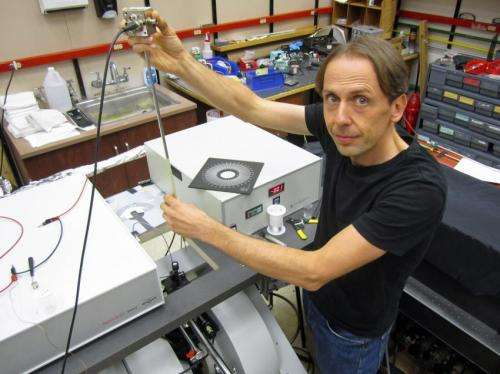 Nuclear spins control current in plastic LED