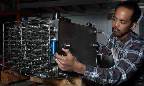 """""""Once you understand how these forklifts operate, the fuel cell advantage is clear,"""" said Sandia's project manager Joe P"""