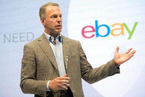 Online commerce giant eBay President Devin Wenig speaks during a press conference in Berlin on September 26, 2013