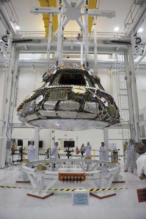 Orion in final assembly at Kennedy Space Center