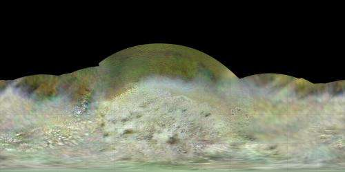 Voyager Map Details Neptune's Strange Moon Triton
